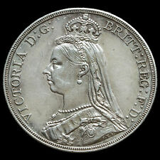 1887 Queen Victoria Jubilee Head Silver Crown – G/EF