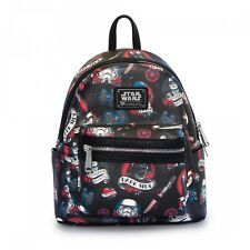 Star Wars Flash Tattoo Black Faux Leather Mini Backpack by Loungefly and Disney