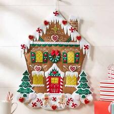 Bucilla New NORDIC GINGERBREAD HOUSE ADVENT CALENDAR Felt Christmas Kit 86585