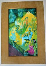 R J HOHIMER ORIGINAL HAND PAINTED SERIGRAPH SIGNED NUMBERED LISTED JAZZ ARTIST p