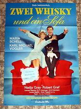 NADIA GRAY, SCHELL * ZWEI WHISKY UND EIN SOFA - A1-Filmposter - Ger 1-Sheet 1963