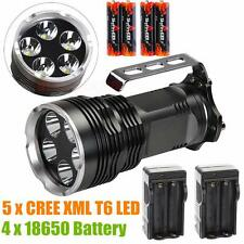 8000lumen 800meter 5x CREE XM-L T6 LED TACTICAL FLASHLIGHT 18650 Torch Hand lamp