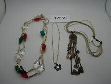 Vintage Jewelry Mixed Lot ASSORTED NECKLACES BEADS 12359