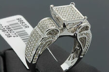 1 CARAT WOMENS LADIES WHITE GOLD FINISH DIAMOND ENGAGEMENT WEDDING RING BAND