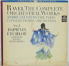 Andre Cluytens - Ravel Vol 2 Daphnis et Chloe Ballet LP Vinyl Angel Blue Stereo