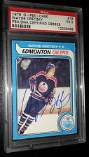 RARE! 1979 OPC  #18 WAYNE GRETZKY EARLY AUTOGRAPH ROOKIE RC  FIRST RUN PSA/DNA