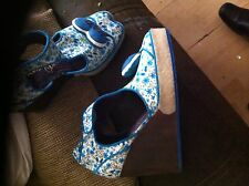Lovely blue wedge by irregular choice uk 4 new love hate