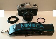 Fujica ST801 camera with EBC Fujinon 55mm Lens 1:1.8 plus filter, strap and bag