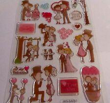 Wedding Stickers-Invitation & Anniversary card making/Scrapbooking/Engaged/Han N