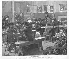 Islington.The Poor.1890.Playroom.Poverty.Children.London.North London