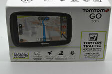 "TomTom GO 50S 5"" Portable Vehicle 3D GPS W/Lifetime Maps Certify Refurbished"