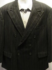 Polo Ralph Lauren Double Breasted Gray Sports Coat Jacket Blazer S 40 R VTG