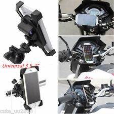 "3.5-7"" Phone GPS LED Mount Holder with USB Charger for Bike Motorcycle Universal"