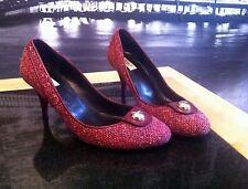 £395 - Rare Furla Shoes Pink/Rasberry Tweed - Size4 - Pret a porter/Hobbs style