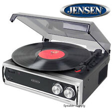 Jensen JTA-232 3-Speed Turntable w/ Built in Speakers Aux USB RCA Line Out Jack
