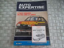 REVUE AUTO EXPERTISE CARROSSERIE OPEL KADETT E CARBURATEUR ET INJECTION