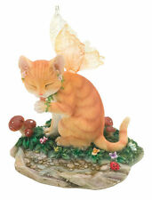 Buttercup Fairy Cat Figurine Faerie Glen Collection - Munro Gifts