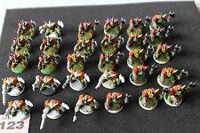 Juegos taller Warhammer 40K Goff Orks parte Pintado Ejército Boyz Trabajo Lote WH40K A1