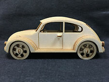 Laser Cut Wooden VW Beetle 3D Model/Puzzle Kit