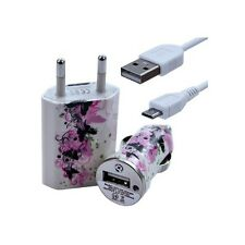 Chargeur maison + allume cigare USB + câble data CV14 pour Thomson : Nimble TH10