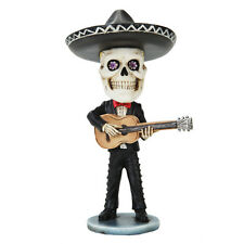Dia de Los Muertos Mariachi Bobblehead Guitar Player Day Of The Dead Skull  DOD