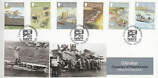 Gibraltar 2009 FDC Centenary Naval Aviation 6v Set Cover Short Avro Caudron Gill