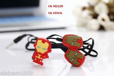 Iron Man Superhero novelty earphones 3.5MM in-ear headphones. UK SELLER