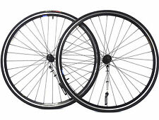 700C Wheelset Velocity Shimano Deore Aerohead all-Black Clincher Rim 8 spd Bike