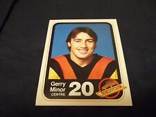 1982-83 Vancouver Canucks Team Issue #20 Gerry Minor