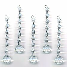Magnificent Crystal Clear Ball  Hanging Crystal Garland Wedding Strand 5PCS