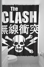 The Clash Shower Curtain NEW Skull Joe Strummer 1977 Punk Rock Licensed Sourpuss
