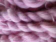 FIVE skeins pink 100% angora bunny rabbit fur yarn lot