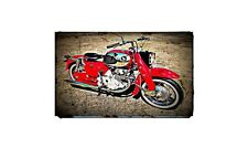 1964 ca77 Bike Motorcycle A4 Retro Metal Sign Aluminium