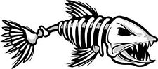 Skeleton fish vinyl decal sticker Kayak Fishing car truck boat pole