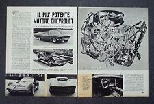 AC07 - Clipping-Ritaglio - 1965 - AUTONOTIZIE CHEVROLET , MOTORE TURBO JET 396
