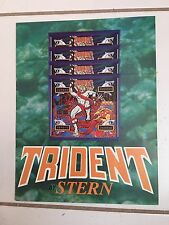 """""""TRIDENT"""" BY STERN 1979 PINBALL PROMO  BROCHURE IN PLASTIC COVER-BIFOLD 4 PGS"""