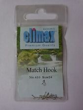 Climax premium quality Match fishing 25 hooks size 24 spade end barbed No 410