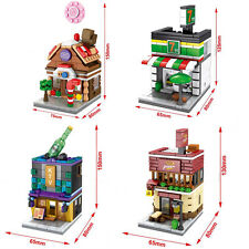 City Series Mini Street  Candy house  Pizza hut  KTV  fit lego 689pcs #6014-6022