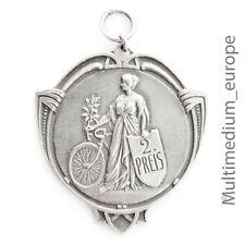Jugendstil Anhänger Medaille 2. Preis Fahrrad Rennen