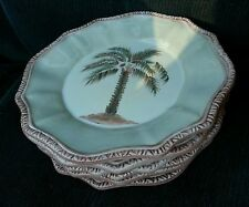 3 CHARTER CLUB HOME TABLA PALM TREE SALAD PLATES