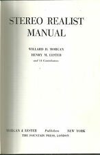 Stereo Realist Manual 1954 Book w/ Glasses