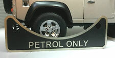 Land Rover Defender 90 110 2.5 V8 Petrol Fuel Filler Metal Label Badge 502951
