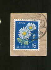 "POSTAGE STAMP  : JAPAN / NIPPON : 15 "" FLOWERS """