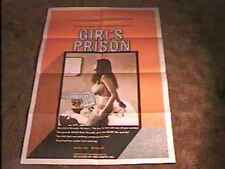GIRLS PRISON MOVIE POSTER VINTAGE SEXPLOITATION
