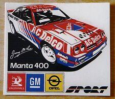 Opel Manta 400 Jimmy McRae / A C Delco Rally Motorsport Sticker / Decal