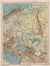 1889 ANTIQUE MAP RUSSIA & ROUMANIA