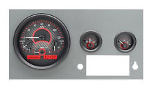 Dakota Digital 55 - 86 Jeep CJ Analog Dash Gauges System Carbon Red VHX-55J-C-R