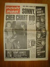 MELODY MAKER 1966 AUG 27 SONNY CHER BEATLES KEN EVERETT