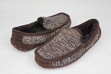 UGG AUSTRALIA ASCOT KNIT STOUT BROWN COLOR FULLY LINED SLIPPERS SIZE 9 US