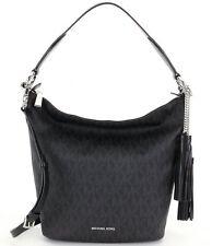 Michael Kors Elana Medium Signature PVC Convertible Shoulder Tote Bag (Black)
